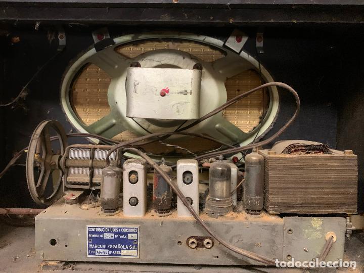 Radios de válvulas: Antigua radio MARCONI, modelo AM-96, ver fotos - Foto 12 - 220369357