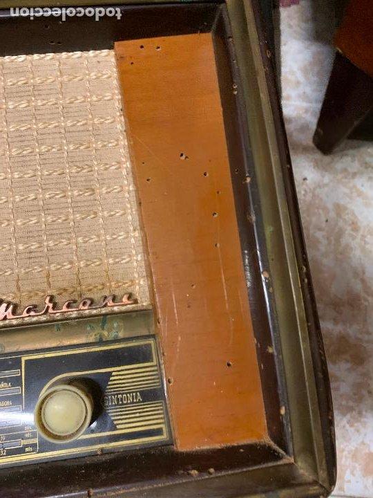 Radios de válvulas: Antigua radio MARCONI, modelo AM-96, ver fotos - Foto 14 - 220369357