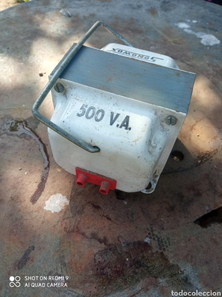 Radios de válvulas: Transformador de corriente 500V. - Foto 2 - 221301338