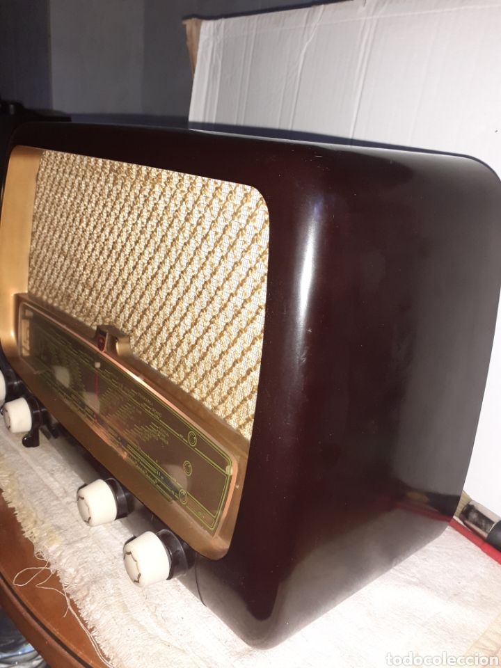 Radios de válvulas: Radio Philips HV 2502 A 50, funcionando - Foto 5 - 221310532