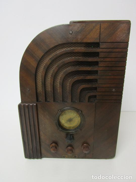 Radios de válvulas: Radio Zenith 812 - Art Decó - se Fabricaron 1154 Unidades -Instrucciones - Año 1935 - Foto 3 - 221359693