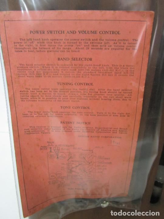 Radios de válvulas: Radio Zenith 812 - Art Decó - se Fabricaron 1154 Unidades -Instrucciones - Año 1935 - Foto 19 - 221359693