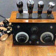 Radios de válvulas: MUY BONITA RADIO DE VÁLVULAS VISTAS AÑOS 20. Lote 221607550