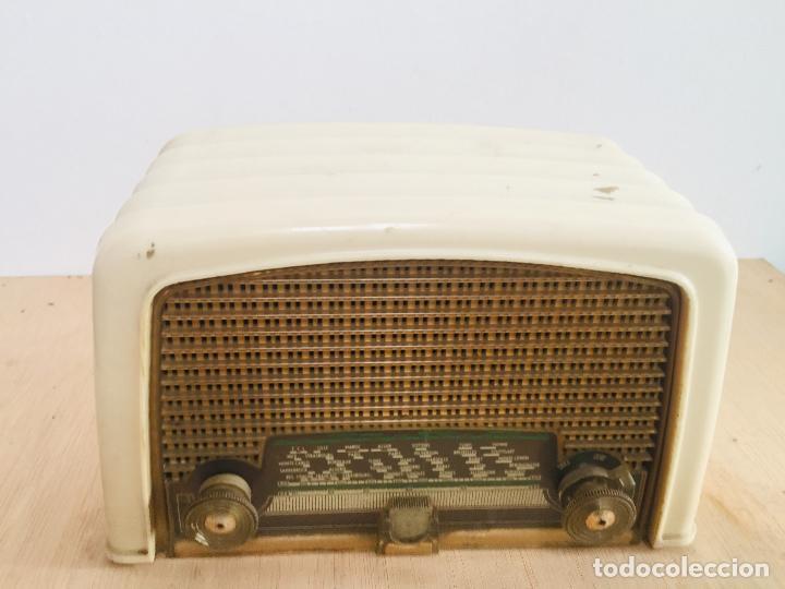 Radios de válvulas: Radio philips baquelita blanca - Foto 4 - 222352488