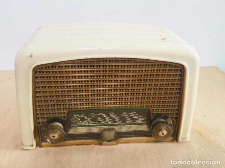Radios de válvulas: Radio philips baquelita blanca - Foto 6 - 222352488