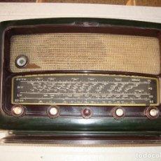 Radio a valvole: RADIO SCHNEIDER DE BAQUELITA VERDE VER FOTOS. Lote 224274357