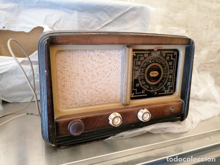 RADIO ANTIGUA NO PROVADA MARCA MILTONE (Radios, Gramófonos, Grabadoras y Otros - Radios de Válvulas)