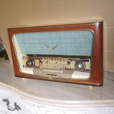 Radio a valvole: ANTIGUA RADIO RESTAURADA MADERA DE NOGAL . MARCA INTER. Lote 225285776