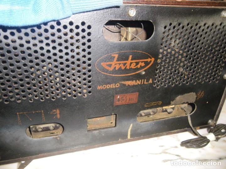 Radios de válvulas: ANTIGUA RADIO RESTAURADA MADERA DE NOGAL . MARCA INTER - Foto 14 - 225285776