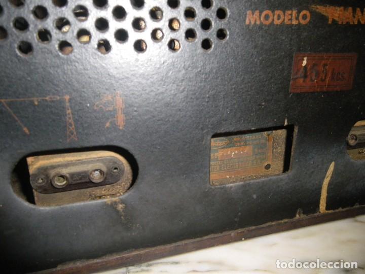 Radios de válvulas: ANTIGUA RADIO RESTAURADA MADERA DE NOGAL . MARCA INTER - Foto 16 - 225285776