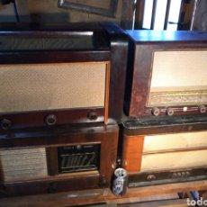 Radios de válvulas: 4RADIOS GRANDES ANTIGUAS DE MADERA.. Lote 228119265