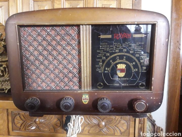 ANTIGUO APARATO DE RADIO ROYAM (Radios, Gramófonos, Grabadoras y Otros - Radios de Válvulas)