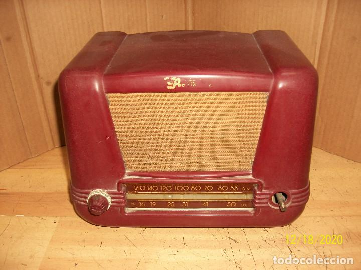 ANTIGUA RADIO DE BAQUELITA-A REVISAR (Radios, Gramófonos, Grabadoras y Otros - Radios de Válvulas)