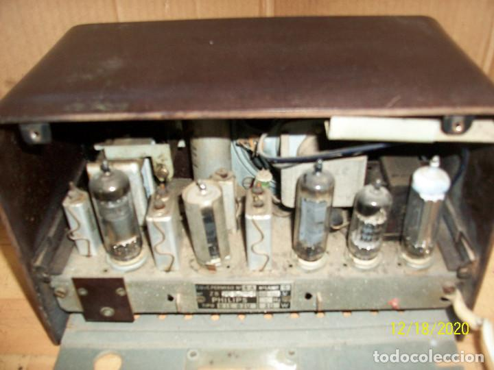 Radios de válvulas: ANTIGUA RADIO PHILIPS-MODELO B 1 E 82U- A REVISAR - Foto 6 - 230772220