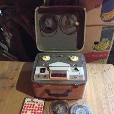 Radios de válvulas: ANTIGUO MAGNETOFÓN MARCA INGRA AÑO 1960 CON CINTAS. Lote 231238200