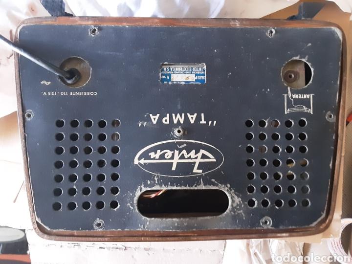 Radios de válvulas: radio antigua tampa Inter años 50 - Foto 3 - 204992185