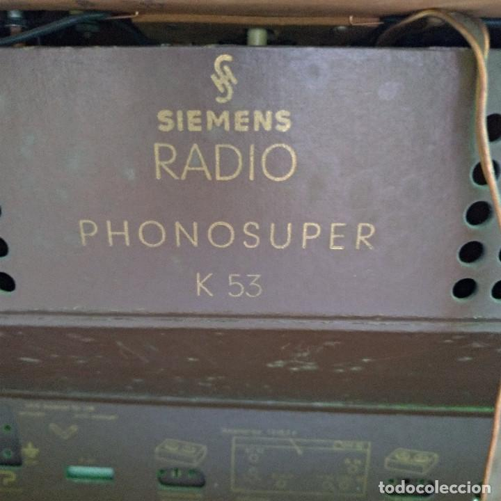Radios de válvulas: Radio antigua Siemens Phonosuper k 53 - Foto 18 - 234567930