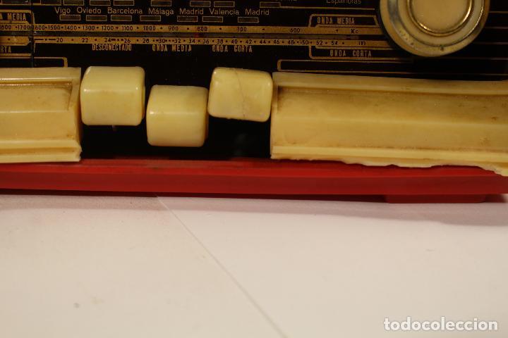 Radios de válvulas: RADIO TELEFUNKEN CAPRICHO U-1925-II , ROJA - Foto 3 - 268859829