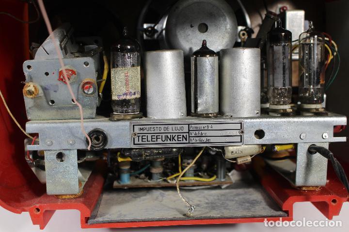 Radios de válvulas: RADIO TELEFUNKEN CAPRICHO U-1925-II , ROJA - Foto 6 - 268859829