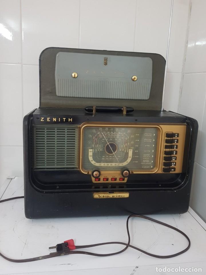 RADIO ANTIGUA MOD ZENITH OCEANIC RECEPTOR MUNDIAL BUEN ESTADO RARÍSIMO ALTA COLECCIÓN (Radios, Gramófonos, Grabadoras y Otros - Radios de Válvulas)