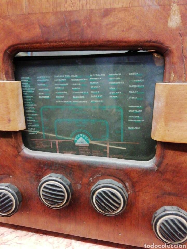 Radios de válvulas: Radio antigua Everest - Foto 2 - 239682395