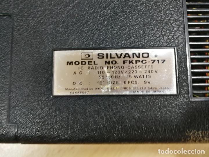 Radios de válvulas: RADIO TOCADISCOS CASETE DE MALETIN SILVANA - Foto 37 - 240956255