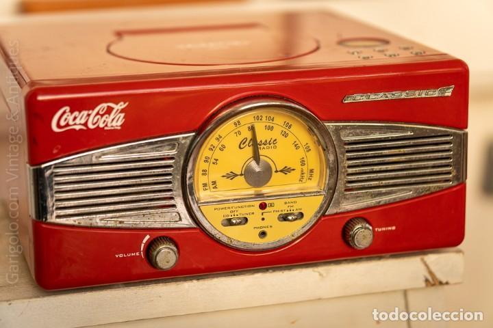 ANTIGUA RADIO MP3 COCA COLA CLASSIC (Radios, Gramófonos, Grabadoras y Otros - Radios de Válvulas)