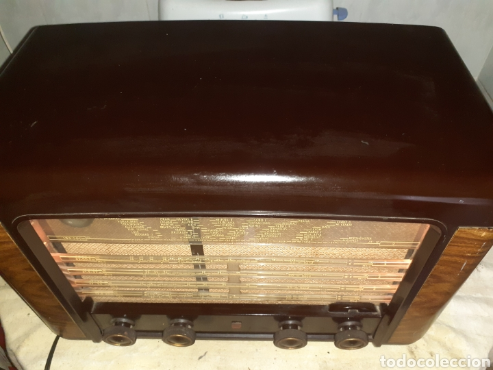 Radios de válvulas: Radio Philips BX490A, funciona, año 1949. - Foto 8 - 245445990