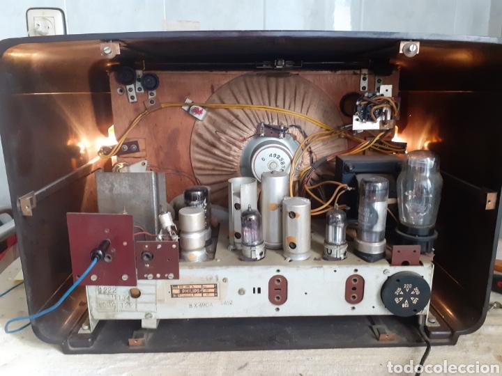 Radios de válvulas: Radio Philips BX490A, funciona, año 1949. - Foto 10 - 245445990