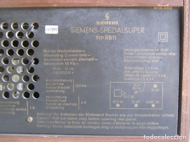 Radios de válvulas: Radio de madera y válvulas Siemens Spezialsuper TYP RB11, funcionando - Foto 13 - 252793940