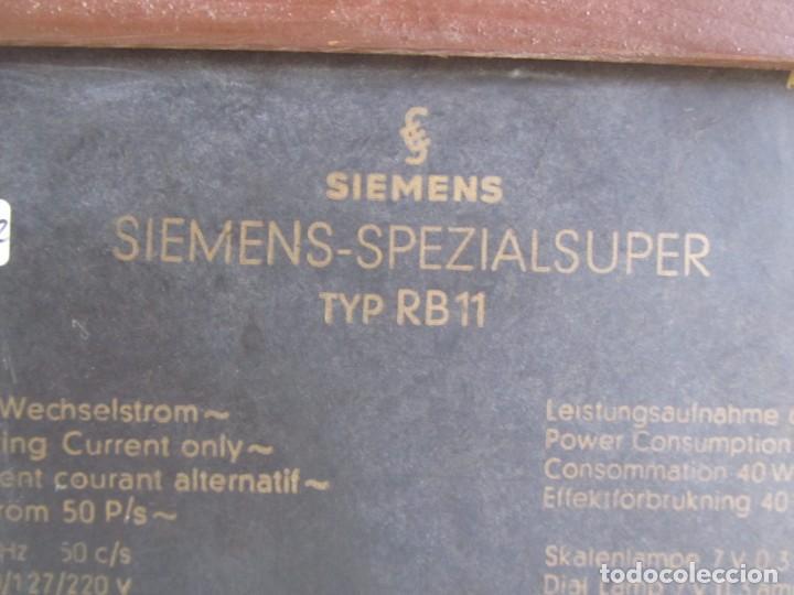 Radios de válvulas: Radio de madera y válvulas Siemens Spezialsuper TYP RB11, funcionando - Foto 14 - 252793940