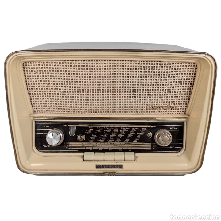 RADIO ANTIGUA - TELEFUNKEN CONCERTINA A-2057-FM (Radios, Gramófonos, Grabadoras y Otros - Radios de Válvulas)