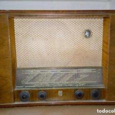 Radios de válvulas: RADIO PHILIPS SATURN BD 612A-22 SIN TAPA TRASERA - 53CM. Lote 253226735