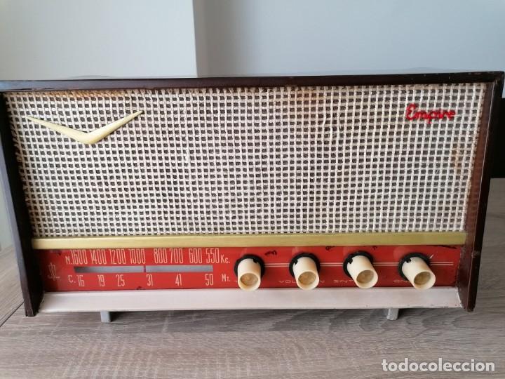 RADIO ANTIGUA EMPIRE MODELO R 46 FUNCIONANDO CORRECTAMENTE. LEER DESCRIPCION!! (Radios, Gramófonos, Grabadoras y Otros - Radios de Válvulas)