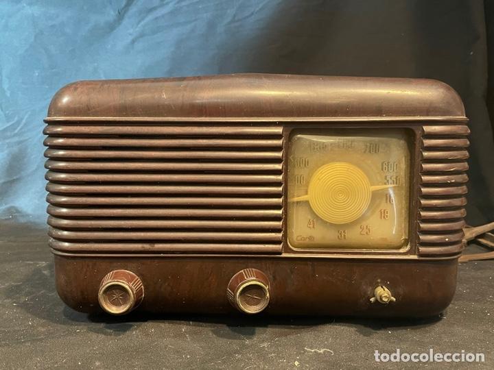 ANTIGUA RADIO DE VÁLVULAS DE BAQUELITA 31X20 (Radios, Gramófonos, Grabadoras y Otros - Radios de Válvulas)