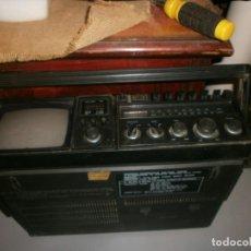 Radios de válvulas: HATAI TV SOLO SONIDO - RADIO FUNCIONANDO - CASSETTE NO GIRA, GRANDE PORTATIL MEDIDA 40X30X12 CM.. Lote 268428594