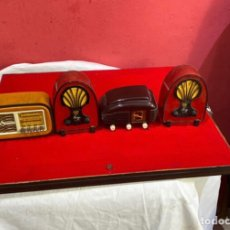 Rádios de válvulas: LOTE DE 4 RADIOS COLECCIÓN RADIOS DE ANTAÑO. Lote 275493493