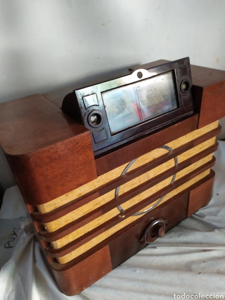 Radios de válvulas: Impresionante radio antigua de válvulas frontal extraíble rarísima - Foto 2 - 276151103