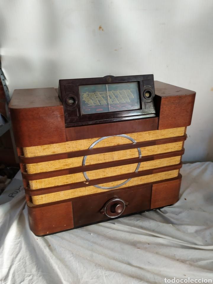 Radios de válvulas: Impresionante radio antigua de válvulas frontal extraíble rarísima - Foto 3 - 276151103