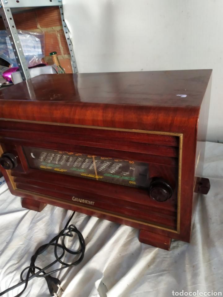 IMPRESIONANTE RADIO ANTIGUA DE VÁLVULAS GRAMMONT (Radios, Gramófonos, Grabadoras y Otros - Radios de Válvulas)