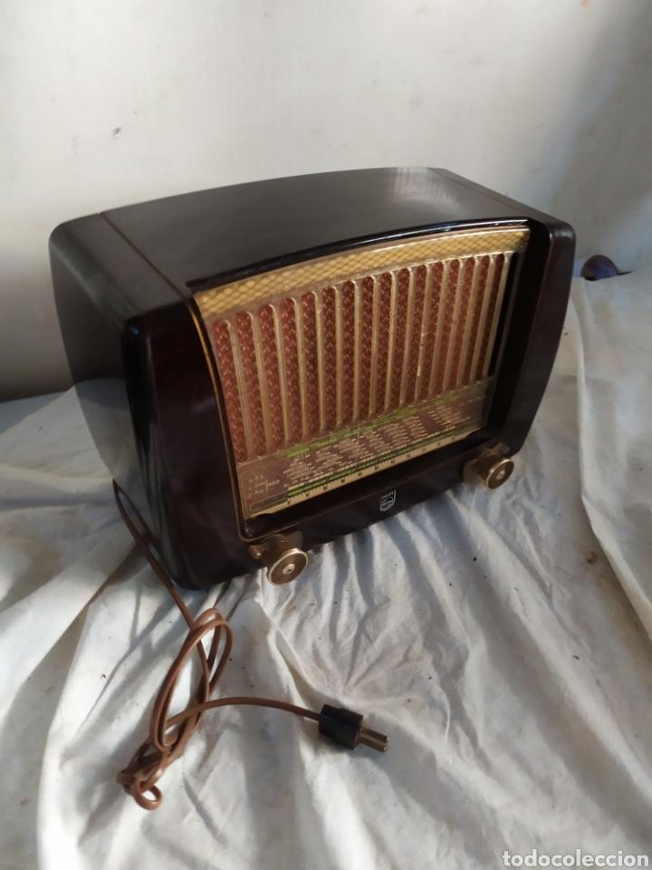 Radios de válvulas: Antigua radio peineta Philips de válvulas - Foto 2 - 276152898