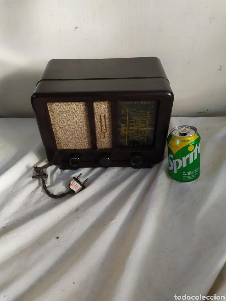 ANTIGUA RADIO MINIATURA DE VÁLVULAS DUCRETET THOMSON (Radios, Gramófonos, Grabadoras y Otros - Radios de Válvulas)