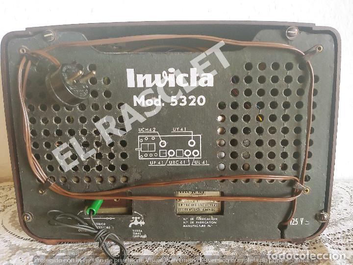 Radios de válvulas: ANTIGÜA RADIO VALVULAS INVICTA MOD.5320 - AÑOS 50 SIGLO XX FUNCIONA A 220V - Foto 10 - 277170773