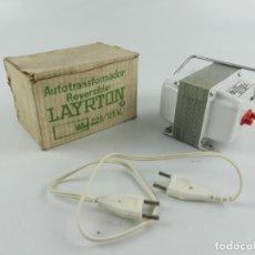 Radios à lampes: AUTOTRANSFORMADOR LAYRTON REVERSIBLE 125/220 EN SU CAJA. Lote 284812423