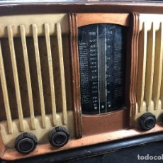 Radios de válvulas: RADIO ANTIGUA DE VÁVULAS ORIGINAL AÑOS 30, CAJA DE MADERA. SIN PROBAR. 110 V.. Lote 285230703
