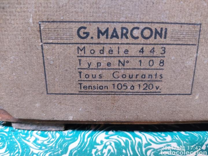 Radios de válvulas: Radio Marconi model 443 - Foto 4 - 286509078