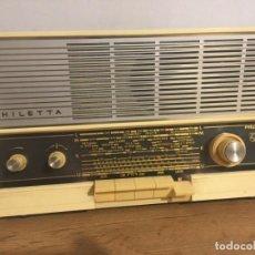 Radios à lampes: RADIO PHILIPS PHILETTA ALEMÁN MOD B2 53 A AÑO 1965/66 FUNCIONA !! POR FAVOR LEAN TODO. Lote 287209633