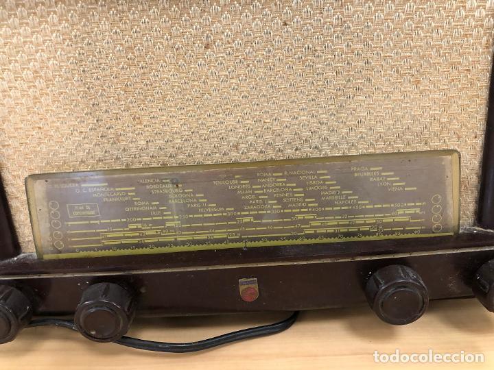 Radios de válvulas: RADIO PHILIPS BE-412-A. EN BAQUELITA. - Foto 2 - 288504098