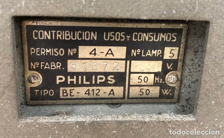 Radios de válvulas: RADIO PHILIPS BE-412-A. EN BAQUELITA. - Foto 3 - 288504098