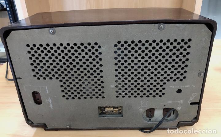 Radios de válvulas: RADIO PHILIPS BE-412-A. EN BAQUELITA. - Foto 4 - 288504098